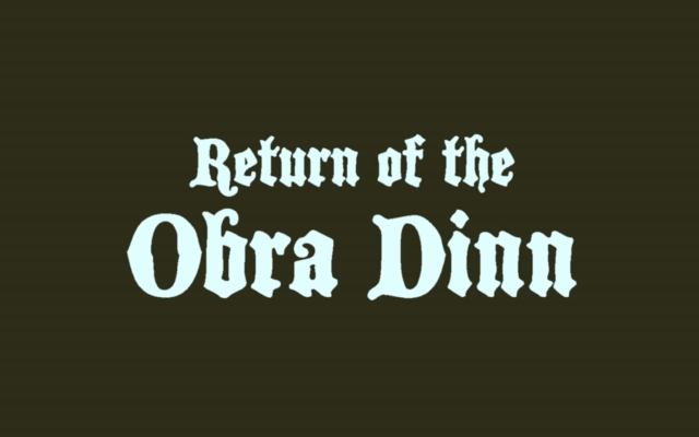 Return of the Obra Dinn – Le Cluedo fait un comeback